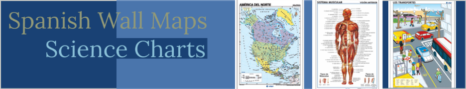 Spanish Wall Maps and Science Charts